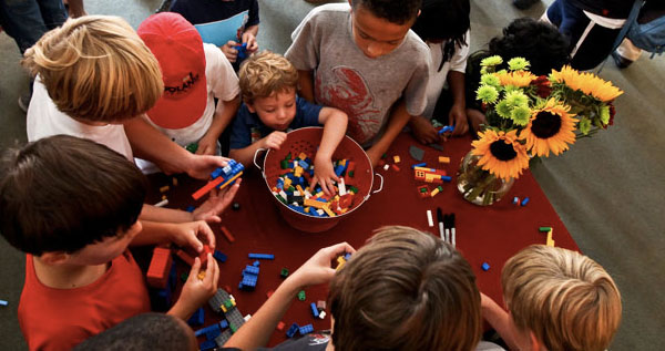 Kids' Lego Artwork on Display at Discovery Times Square