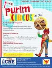 Purim Circus at CBE!