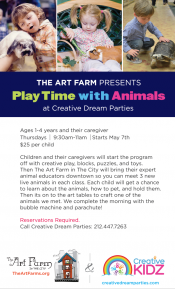 The Art Farm presents Play Time with Animals